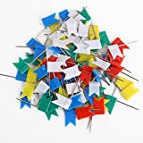 Vstar® Chincheta Tachuelas de cabeza forma bandera Chinchetas marcadoras (50pcs)
