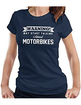 Warning May Start Talking About Motorbikes Women's T-Shirt
