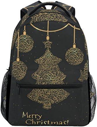 TIZORAX Merry Christmas Vacances de voeux Motif Sac à Dos Dos Dos Sac d'école pour ran ée Voyage Sac à Dos B07FXY2JGN | Outlet Online  2a0ee4