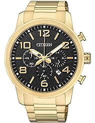 Citizen Herren-Armbanduhr Chronograph Quarz Edelstahl beschichtet AN8052-55E
