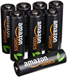 AmazonBasics High Capacity AA Pre-Charged Rechargeable Batteries 2500 mAh [Pack of 8]