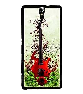 HiFi High Glossy Designer Phone Back Case Cover Sony Xperia C5 Ultra Dual :: Sony Xperia C5 E5533 E5563 ( DJ Musical Guitar Instrument Design Pattern )