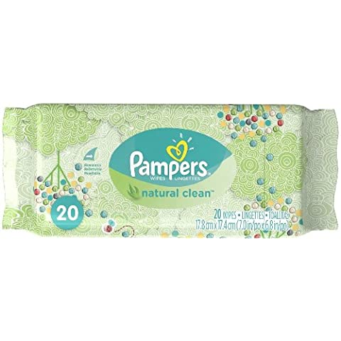 Pampers Natural Clean Wipes, 20 Wipes by Pampers