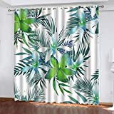 Vorhang Kinderzimmer - Coconano Insulated Blackout Curtain mit Öse 2pc Natural Landscape Plant Series 3D-Druck 132x215cm kinderzimmer Vorhang