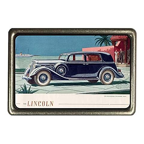 cadora Boucle de Ceinture Buckle Vintage Retro Publicité Lincoln Vieux Voitures États-Unis