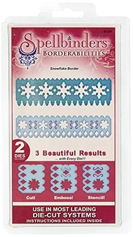 Spellbinders Borderabilities Petite Dies-Snowflake