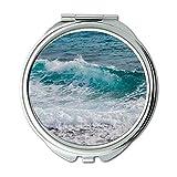 Yanteng Spiegel, Reise-Spiegel, Strandschaum-Bewegung, Taschenspiegel, tragbarer Spiegel