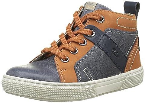 Aster Charly, Sneakers Hautes garçon, Bleu (Marine Camel), 31