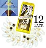 12-Pack UNSTRANGLER COLLAR EXTENDER / Bouton Col de Chemise Extenseur/Expandeur. Ajouter 1,5 cm Comfort Supplémentaire à tous les Cols de chemises lorsque vous portez une cravate. Rallonge de col.