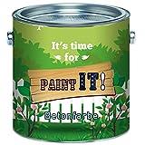 Paint IT! Betonfarbe hochwertige Fassadenfarbe für mineralische Untergründe wieBeton, Zement, Putz oder Stein (30 kg, Lichtblau (RAL 5012))