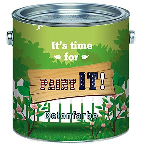 Paint IT! Vernice per pavimenti in cemento di alta qualità per superfici minerali come cemento, cemento, intonaco o pietra, Grigio