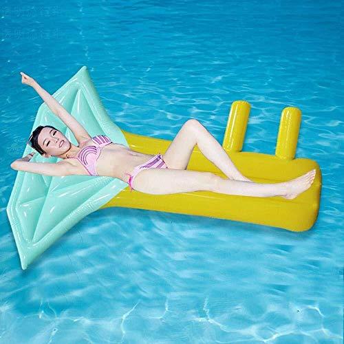 YAWJ Key Floating Row Floating Bed Schwimmhilfen Luftkissen Erwachsene Wasserverdickung Aufblasbare Isomatte Liege