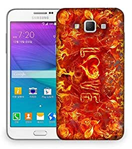 Snoogg Love On Fire Designer Protective Back Case Cover For Samsung Galaxy Grand Max G7200
