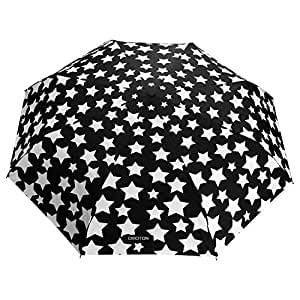 OMOTON Ombrello Magico Cambia Colore - Apertura e Chiusura Automatica - Pieghevole - Resistente - Antivento - 8 Stecche