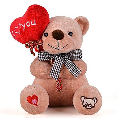 Gloveleya orsacchiotto peluche orso tenendo il cuore ti amo peluches l'amante regali marrone 7