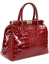Belli , Sac à main pour femme Rouge Bordeaux 34x25x16 cm (B x H x T)