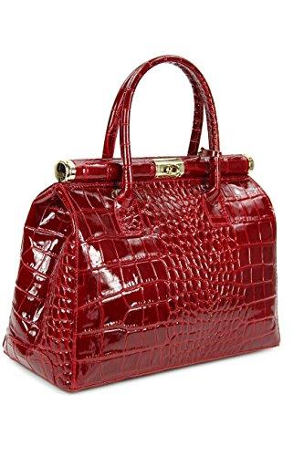 Belli, Borsa tote donna Rosso Bordeaux