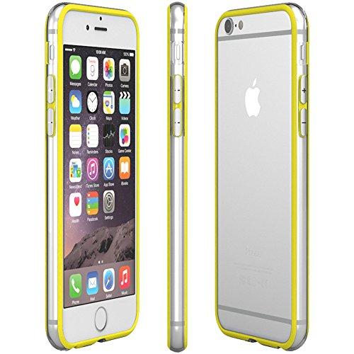 iPhone 8 Hülle / iPhone 7 Hülle - EAZY CASE Silikon Bumper für Apple iPhone 7 & iPhone 8 - Flexible Schutzhülle als Rahmenschutz in Schwarz Gelb
