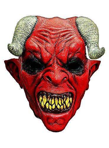 Halloween Karneval Party Kostüm Teufel Maske des Grauens aus Latex für Erwachsene (Teufel Kostüm Maske)