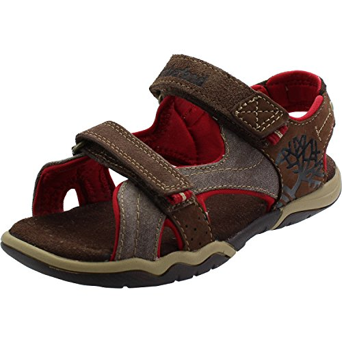 Timberland Park Hopper 2-Strap Junior Plotting Soil Leather Flat Sandals Plotting Soil
