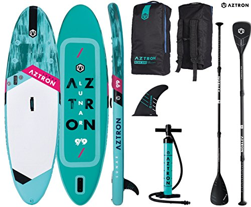 AZTRON Lunar 9.9 Sup Stand up Paddle Board mit Speed Carbon Paddel -