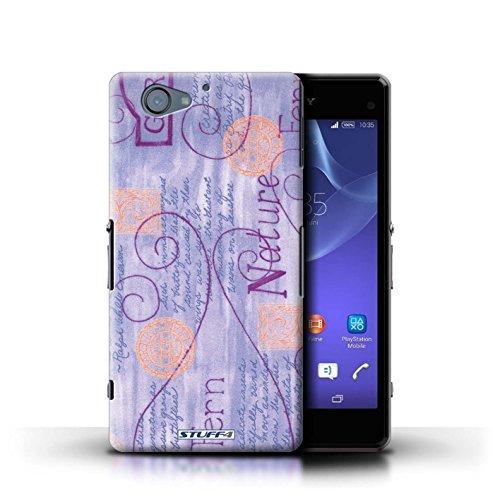 Kobalt® Imprimé Etui / Coque pour Sony Xperia A2 / Rose conception / Série Motif Nature Violet / Orange
