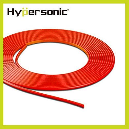 Hypersonic® HP6188 Flexible Dekorative Stylingleiste Zierleiste Deko-Band fürs Auto, stylisch,selbstklebend, für Ihnen und Aussen, Macht Ihr Fahrzeug attraktiv, ROT, 5 Meter