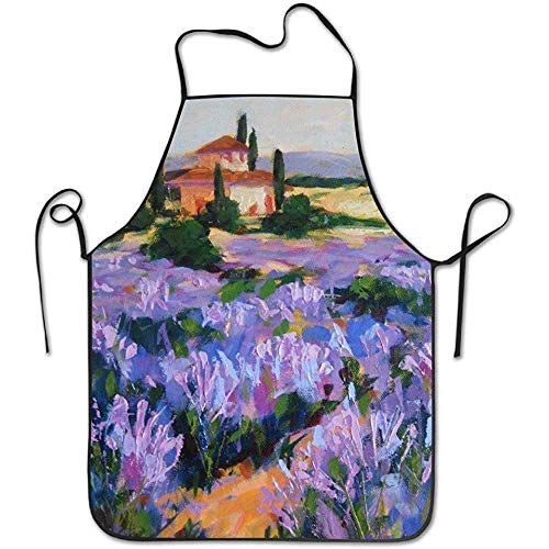 French Lavender Durable Unisex Grilling Apron Waitress Aprons