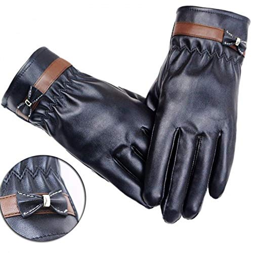 AFCACD Guanti Moda Donna Lady Warm Leather Driving Soft Fodera Guanti Guanti Moto Donna Guant