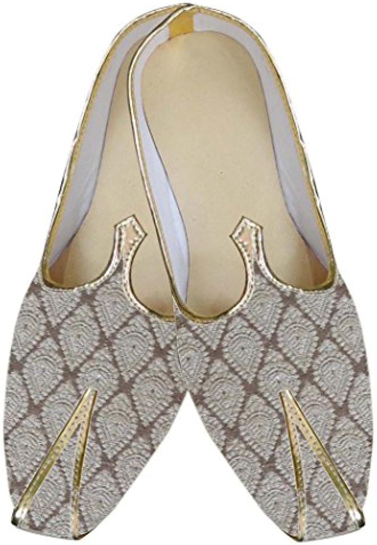 INMONARCH Crema Hombres Clásico Zapatos de Boda MJ0035