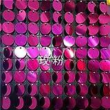 Plaque De Fond 1Set Pneumatique 30Cm * 30Cm Conseil Et Paillettes Pet Rondes Pour Party Backdrops Mariage/Anniversaire / Bureau Décorer, Fuchsia