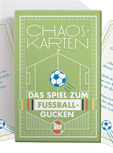 Chaoskarten Fußball Edition - Das Spiel zum Fußball gucken - 51 Aufgaben - Das Original