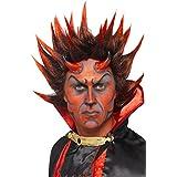 Fancy Dress Devil Punky Wig, Red And Black (peluca)