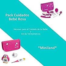 Pack Cuidados Bebé Color Rosa: Neceser para el Cuidado de tu Bebé y Kit de Termómetros