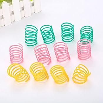 UEETEK 10 Pcs Pet Coloré Ressorts Chat Jouets Chaton Chaton en Plastique Slinky Jouets pour Chaton Chaton Animaux (Couleur Aléatoire)