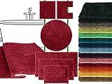 Mikrofaser Badteppich - klassisch + modern + universell einsetzbar - erhältlich in 13 modernen Farben und 6 verschiedenen Größen - die extra Streicheleinheit für Ihre Füße in geprüfter Markenqualität, rot, 50 x 45 cm ohne Ausschnitt