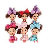 Hilai 5Pcs Princess Puppen Mini-Puppe spielt Sammlung Überraschung Geschenke Kleine Barbie Spielzeug-Nette kleine Puppe Dekoration Schlüsselanhänger für Tasche Bunte Telefon Rucksack Anhänger Zubehör