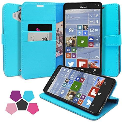 Microsoft Lumia 950XL Custodia, Profer [Premium Serie] Custodia in pelle Premium PU Pelle Flip Custodia (Owl Clip Di Carta)