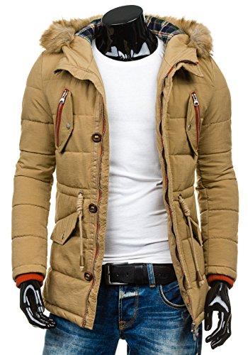 BOLF – Veste á capuche – Fermeture éclair – BOSLINE 7577 – Homme Kaki