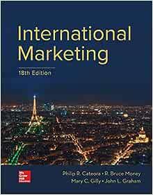 International Marketing Amazon Co Uk Cateora Philip R Graham John Gilly Mary C 9781259712357 Books