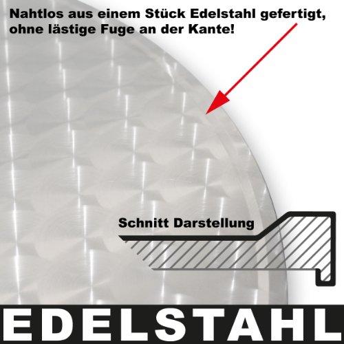 Torrex 30152 Bistrotisch / Stehtisch klappbar aus Aluminium mit Edelstahlplatte - Höhe 75cm oder 110cm, Ø 60cm - 6