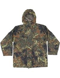 Genuine German Army Issued Fully Waterproof GORE-Tex Parka Flecktarn Camo Jacket GRADE 1