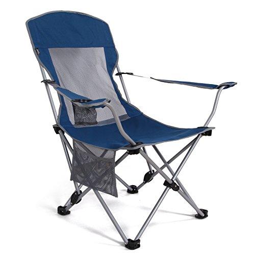 QWERTLH Faltender Kampierender Stuhl Tragbarer Ultralight Faltender Rucksackstühle In Einem Tragenden Beutel Kampierenden Stuhl,Blue