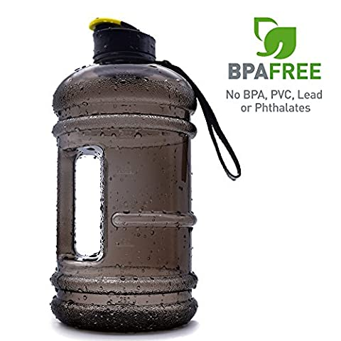 2.2l Large Sports Water Bottle Tank Jug Container Hydrate Drinking