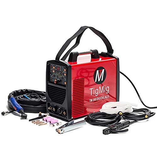 Inverter-Schweißgerät TigMig AC/DC Digital WIG TM 200 Digital Alu, 200A 60% Betriebs-Zyklus für Schweißen von allen Metallen, speziell für Aluminium
