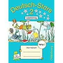 Deutsch-Stars - TING-Ausgabe: 2. Schuljahr - Lesetraining: Übungsheft. Mit Lösungen