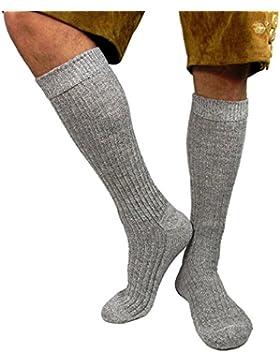 Herren Trachtensocken Trachten Socken für Lederhose Kniebund Kurz Hose grau