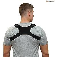 QuaPro24 - Geradehalter zur Haltungskorrektur für eine aufrechte Körperhaltung - Rückenbandage für Damen und Herren - Rückenstabilisator gegen haltungsbedingte Rücken- und Nackenschmerzen
