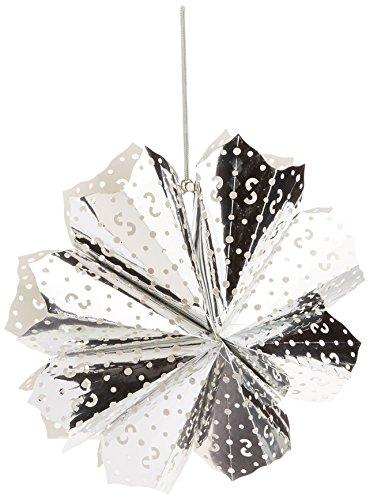 American Crafts Heidi Swapp 8 points Star Lanterne en papier 43 cm feuille d'argent, acrylique, multicolore