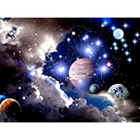 CHshe DIY 5D Cosmic Planet Diamond Painting Kits full Cross Stitch Kit Crystal Rhinestone Embroidery Pictures Arts Craft for Home Wall Decor 30*40cm